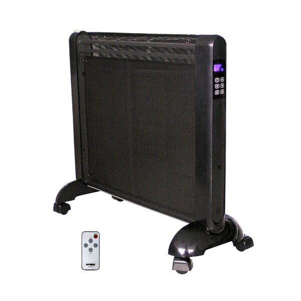 Review 1,500 Watt Portable Electric Convection Panel Heater With Remote
