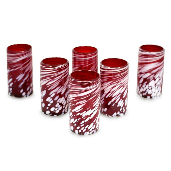 Stover 16 oz. Glass Tumblers (Set of 6) by Red Barrel Studio