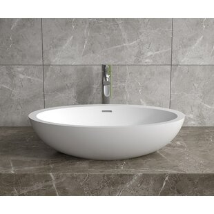 Top Reviews Stone Oval Vessel Bathroom Sink with Overflow By InFurniture