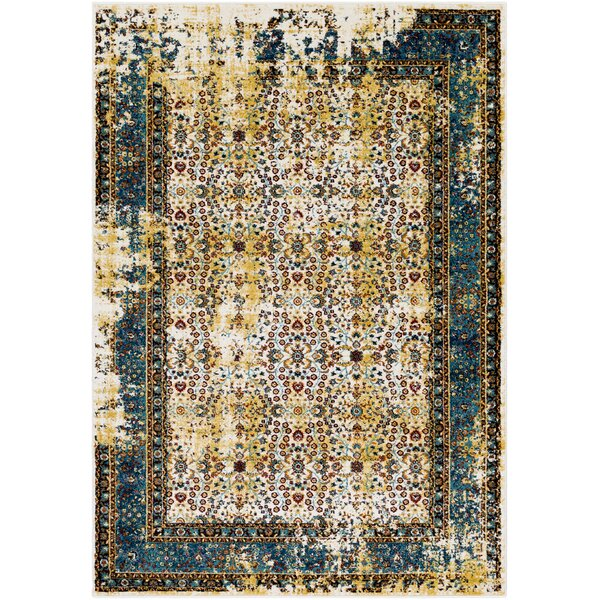 Deandra Yellow/Blue Area Rug by Bloomsbury Market
