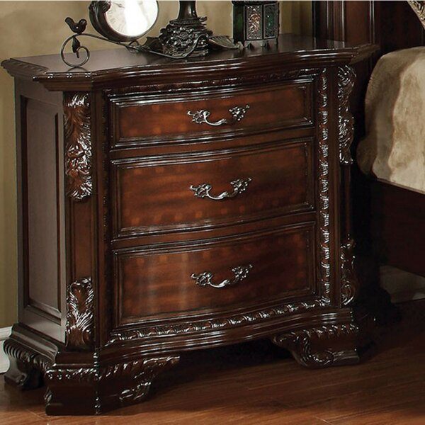 Fontayne Luxurious 3 Drawer Nightstand by Astoria Grand
