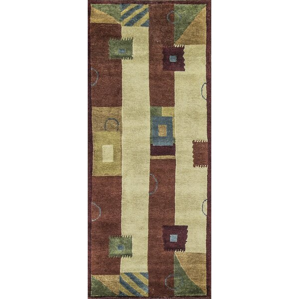 One-of-a-Kind Hand-Knotted Wool Rust/Beige Indoor Area Rug by Bokara Rug Co., Inc.