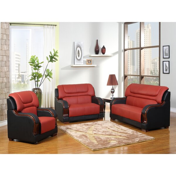 Astral 3 Piece Leather Living Room Set By Red Barrel Studio