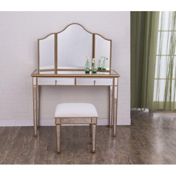 Seth Table Vanity Set by Rosdorf Park