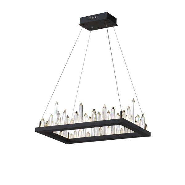 Legrand 1-Light LED Rectangle Chandelier By Mercer41