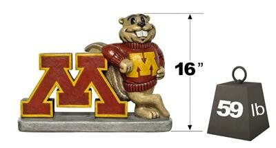 Minnesota Golden Gopher College Mascot Statue by Henri Studio
