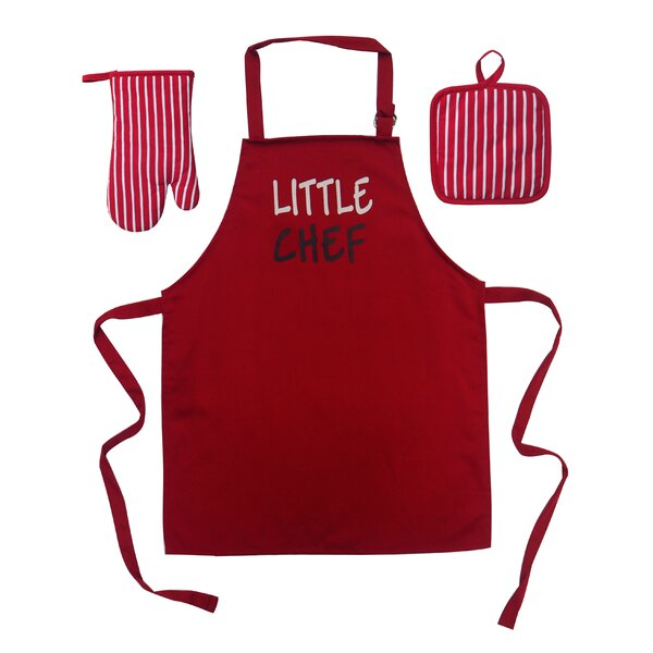 Little Chef 3 Piece Apron Set by Zoomie Kids