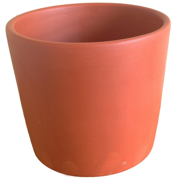 Pifer Terracotta Cylinder Clay Pot Planter by Bungalow Rose