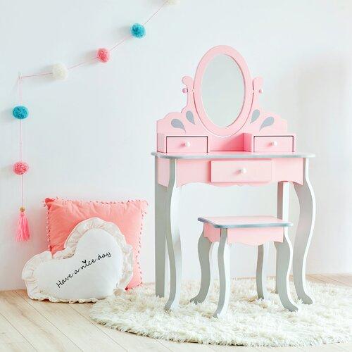 Schminktisch-Set Rapunzel mit Spiegel Teamson Kids | Schlafzimmer > Kommoden | Teamson Kids