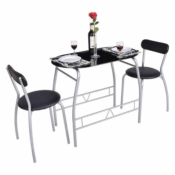 Magdalena 3 Piece Dining Set by Ebern Designs