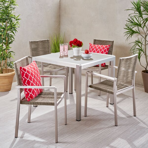 Aarthurnna Outdoor 5 Piece Dining Set Bayou Breeze W002826730