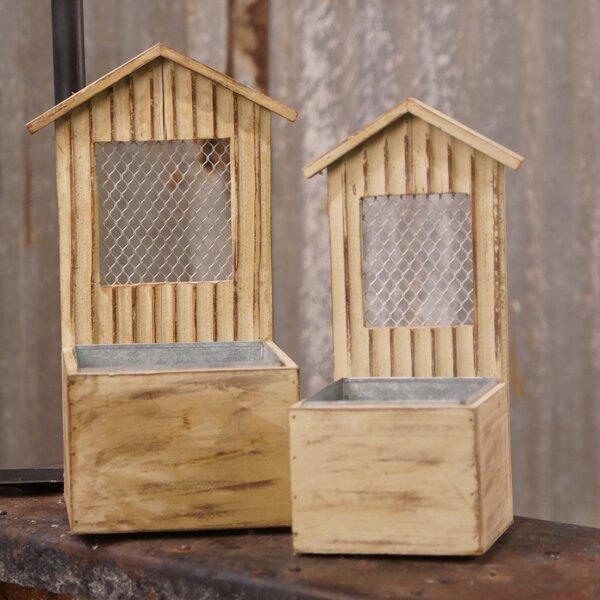 2-Piece Wood Planter box Set by American Mercantile