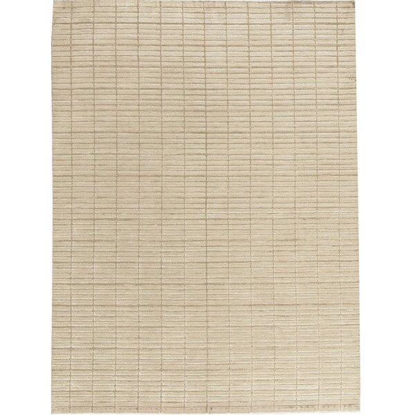 Indian Hand-Knotted Wool Brown Area Rug by Bokara Rug Co., Inc.