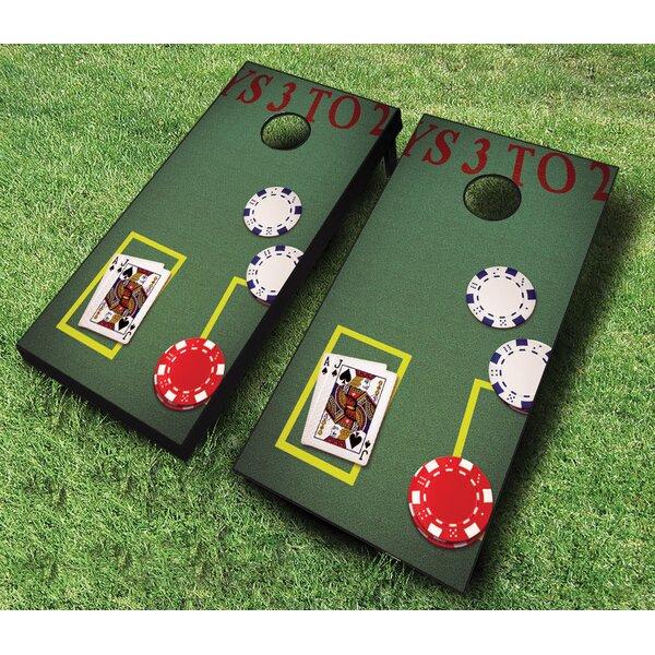 10 Piece Blackjack Cornhole Set by AJJ Cornhole