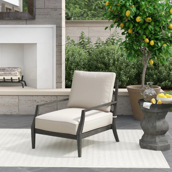 Lattice Lounge Patio Chair with Cushions by Summer Classics