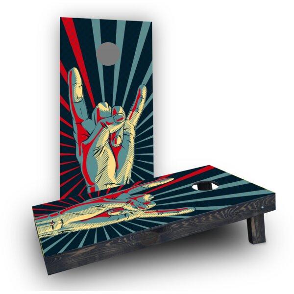 Rock Hand Cornhole Boards (Set of 2) by Custom Cornhole Boards