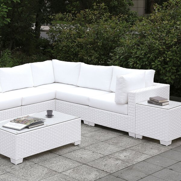 Blatce 3 Piece Sectional Seating Group with Cushions by Brayden Studio