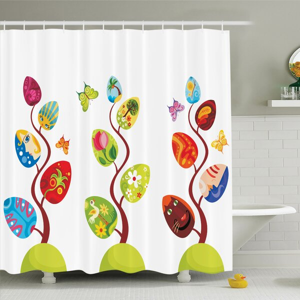 Lizbeth Magic Tree Easter Theme Shower Curtain Set by Zoomie Kids