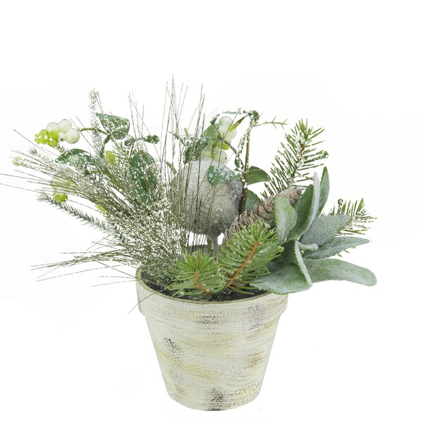Artificial Frosted Pine Cones and Berries Winter Floral Arrangement by Northlight Seasonal