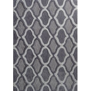 Moro Shag Hand-Tufted Gray Area Rug By Rug Factory Plus