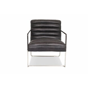Drees Leather Lounge Chair By Brayden Studio