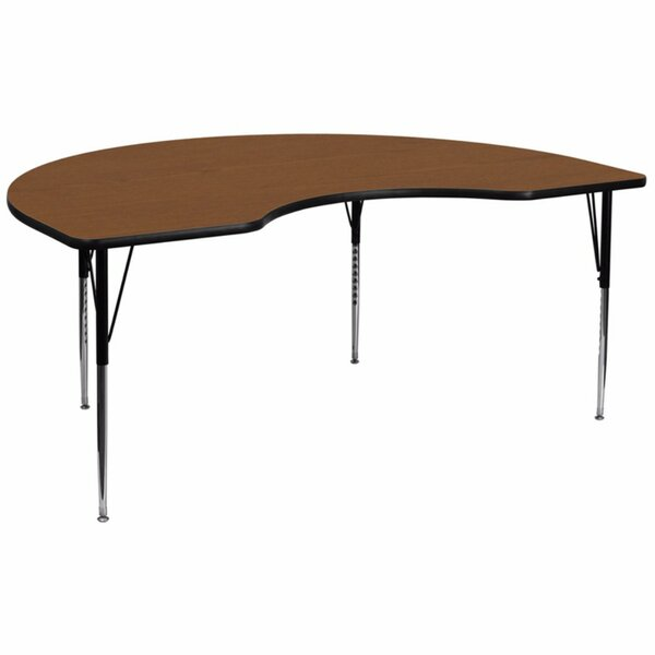 High Pressure Laminate Top 96'' L x 48'' W Kidney Shaped Activity Table by Offex