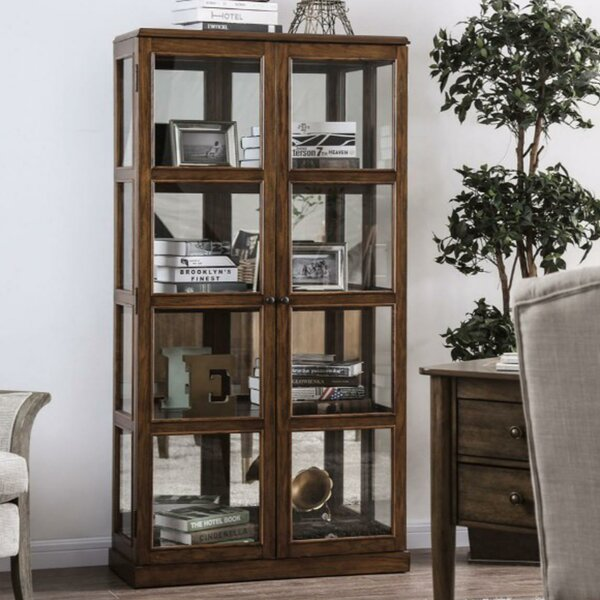 Lechner Transitional Wooden Curio Cabinet by Charlton Home