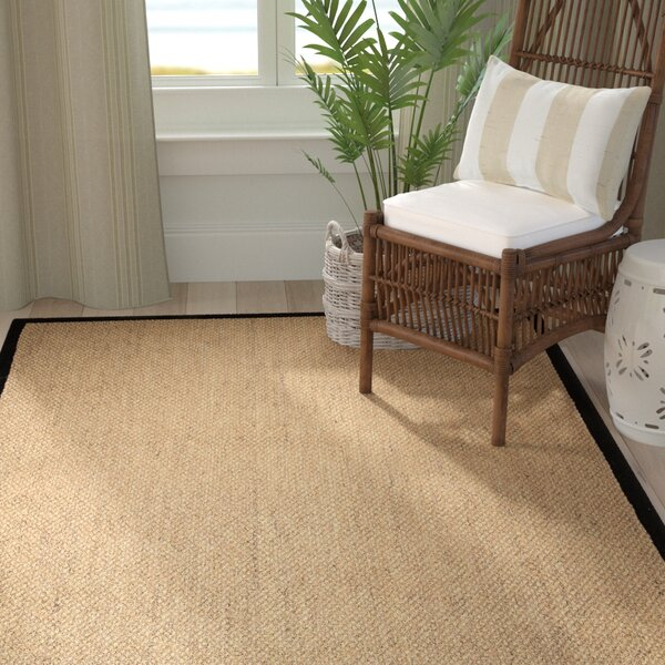 Galla Beige/Black Area Rug by Highland Dunes