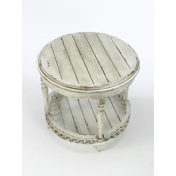 Gingras Round Plank Top End Table by Darby Home Co Darby Home Co