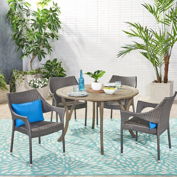 Pekalongan 5 Piece Dining Set by Ebern Designs