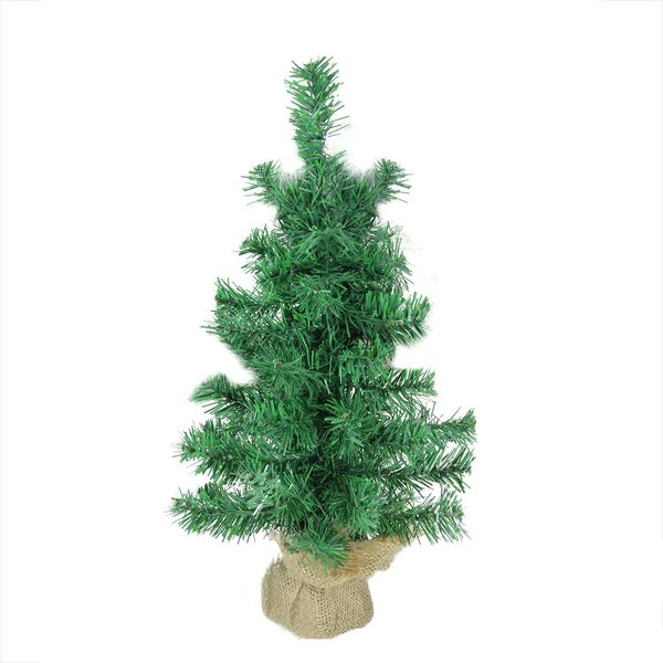 Mixed 18 Green Pine Artificial Christmas Tree in Burlap Base by The Holiday Aisle