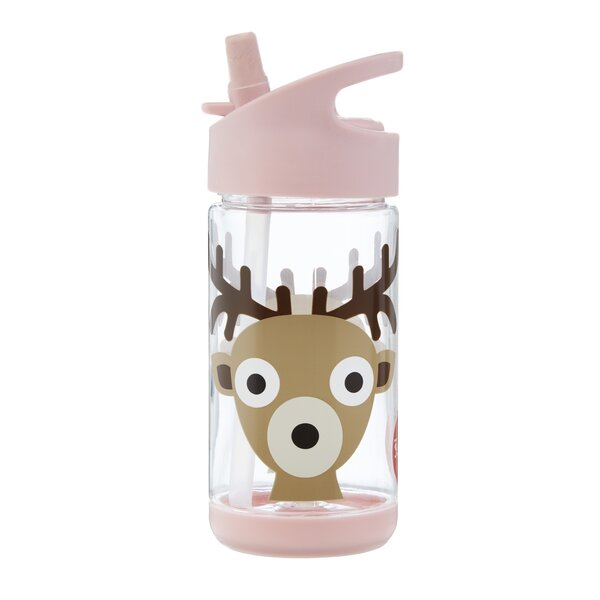 Deer 12 oz. Plastic Water Bottle by 3 Sprouts