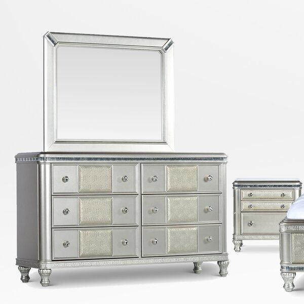 Taryn 6 Drawer Dresser with Mirror by Mercer41