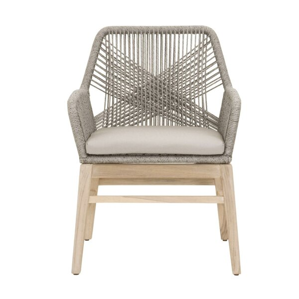 Arneson Weave Design Patio Dining Chair (Set of 2) by Bungalow Rose