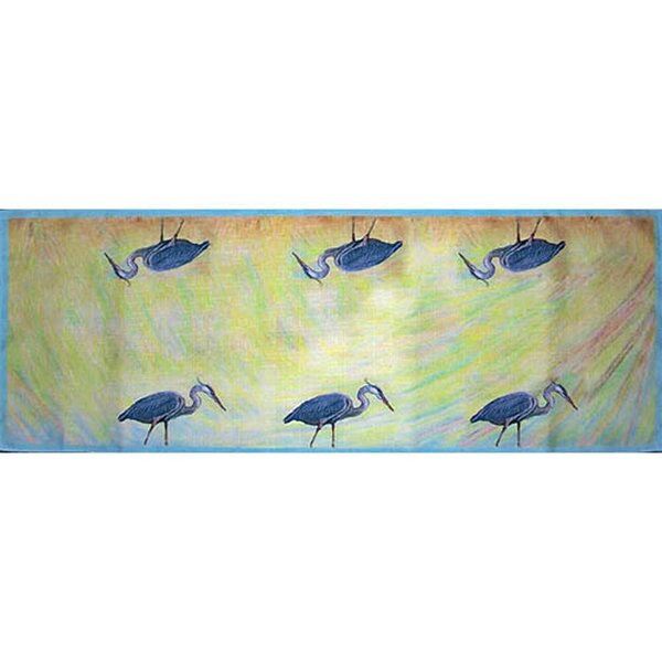 Heron Table Runner by Betsy Drake Interiors