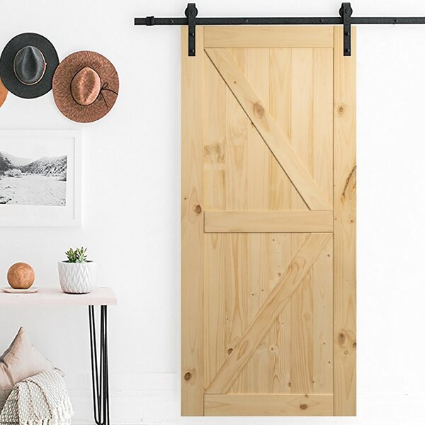 Wood Interior Barn Door by Belleze
