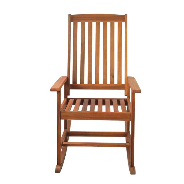 David Outdoor Rocking Chair by August Grove