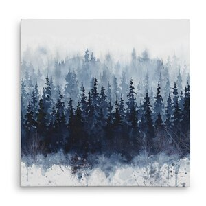 'Indigo Forest' Oil Painting Print on Wrapped Canvas by Union Rustic