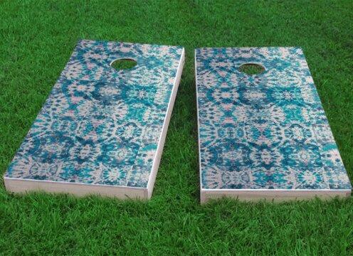 Green Tie-Dye Cornhole Game (Set of 2) by Custom Cornhole Boards