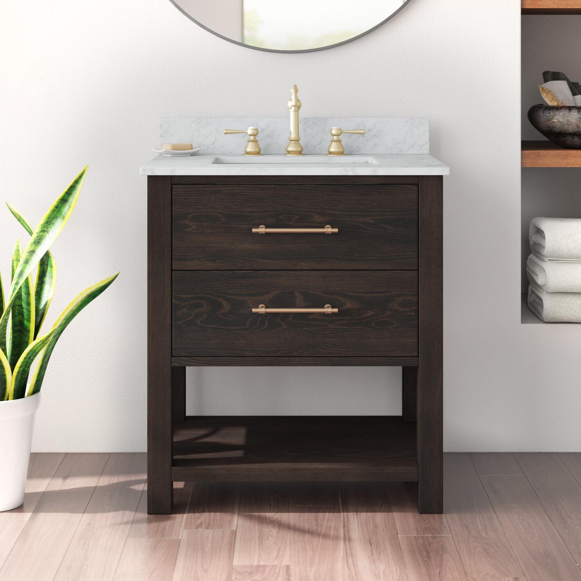 Burchette Fouke 30 Single Bathroom Vanity Set Reviews Allmodern