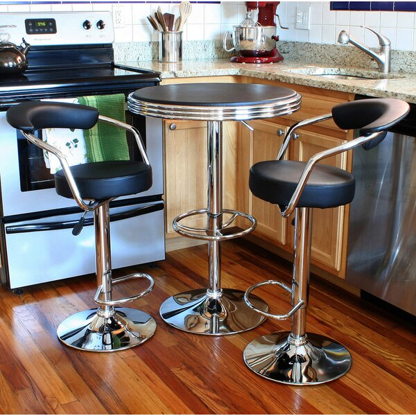 Kunzler 3 Piece Adjustable Pub Table Set by Ebern Designs