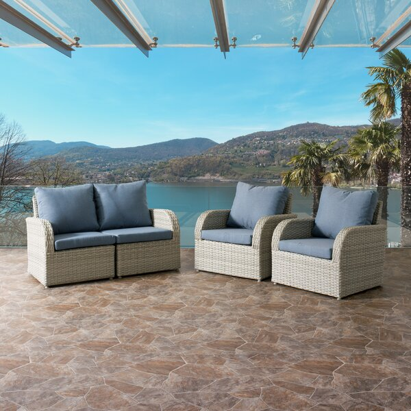 Killingworth 4 Piece Sofa Seating Group with Cushions by Rosecliff Heights