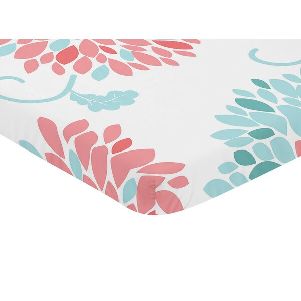 Emma Floral Print Fitted Mini Crib Sheet by Sweet Jojo Designs
