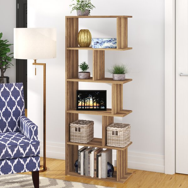 Celina Modern Geometric Bookcase By Wrought Studio