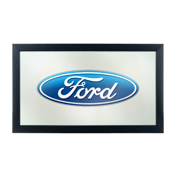 Ford Oval Framed Graphic Art by Trademark Global