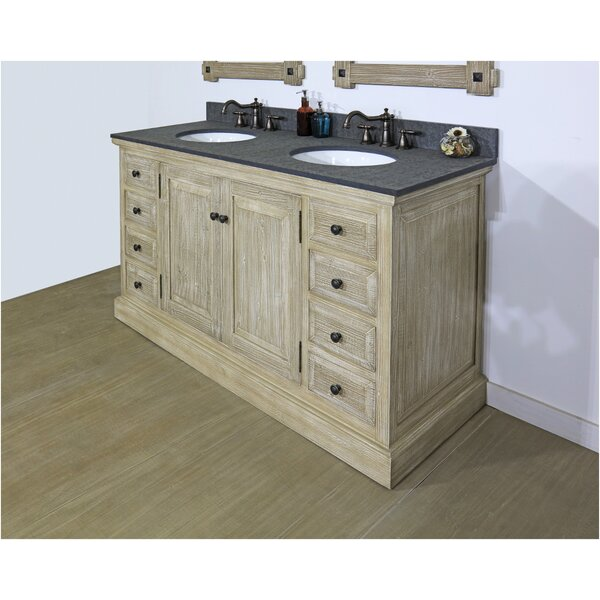 Trosclair 60 Double Bathroom Vanity Set by Millwood Pines