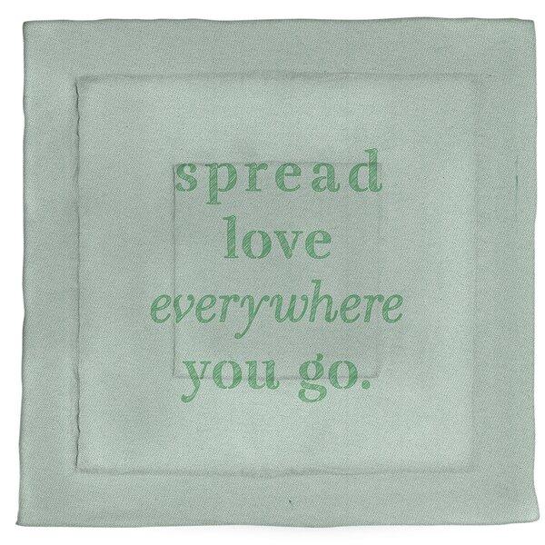 Spread Love Quote Single Reversible Comforter