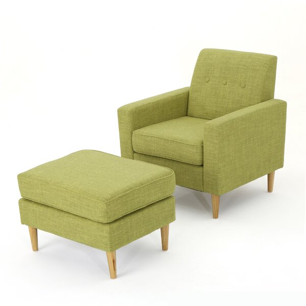 Ezequiel Mid Century Club Chair and Ottoman by Langley Street
