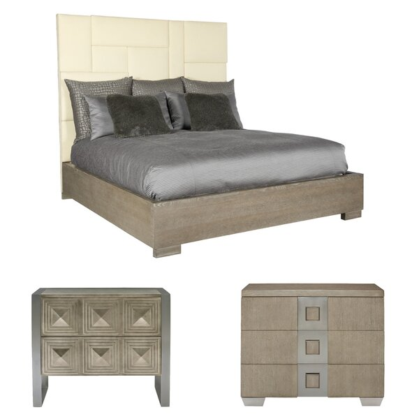 Mosaic Upholstered Standard Configurable Bedroom Set by Bernhardt