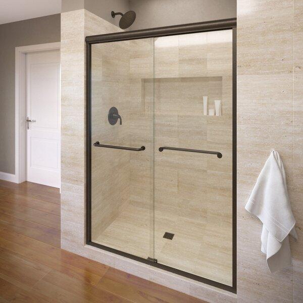 Infinity 59 x 70 Frameless Bypass Sliding Shower Door by Basco
